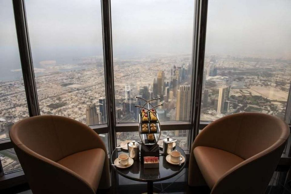 Burj Khalifa Lounge located on floors 152, 153, and 154