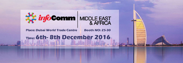 InfoComm Middle East and Africa 2016 – Events in Dubai, UAE.