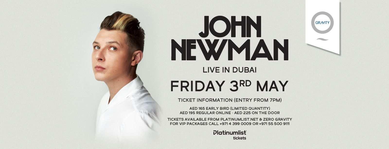John Newman Live in Dubai