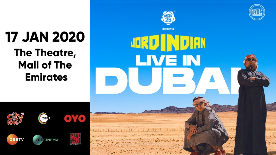 Jordindian Live on Jan 17th at The Theatre Dubai 2020