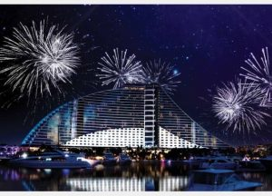 New Year 2018 Fireworks - Jumeirah Beach Residences