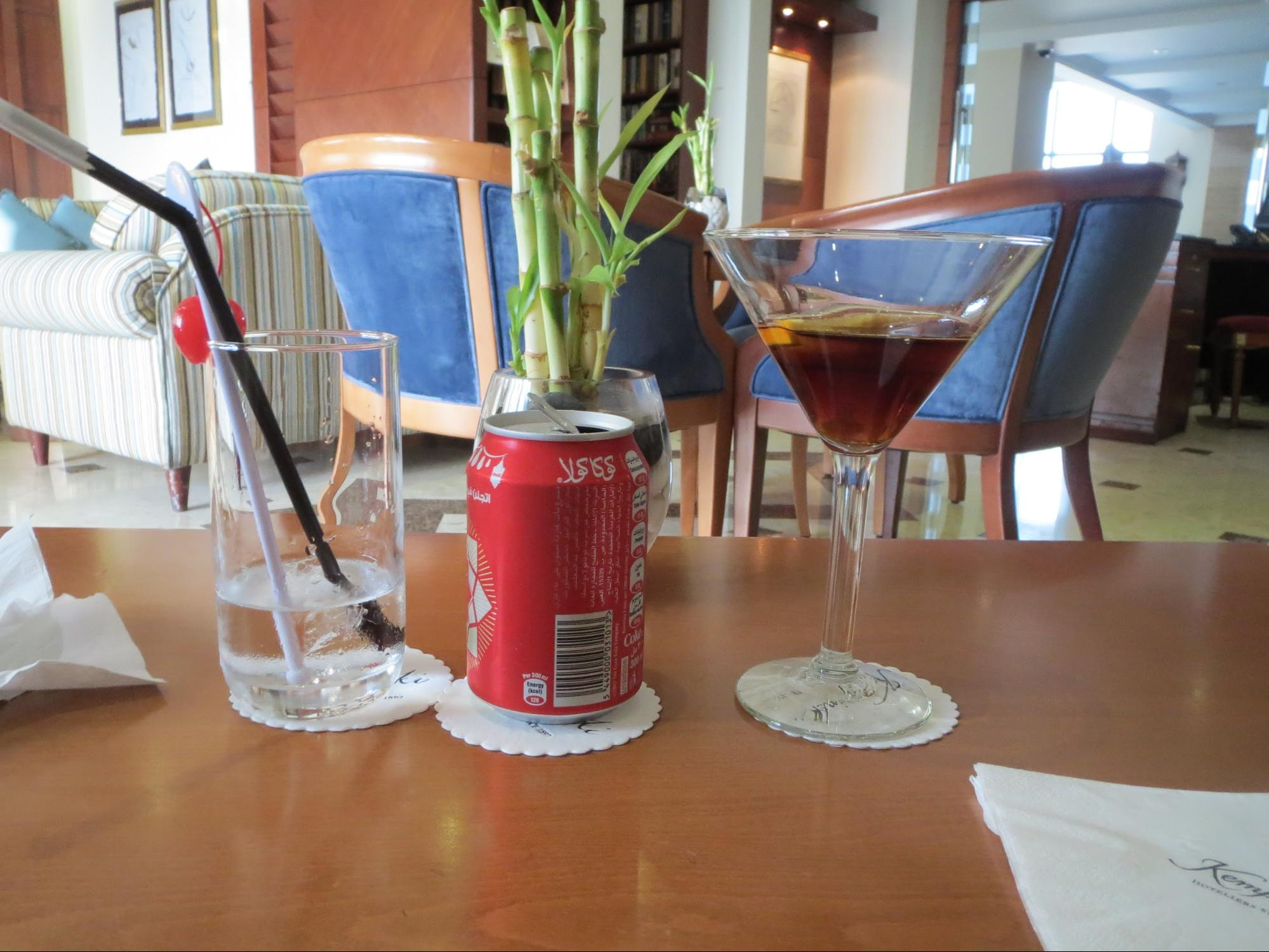 Kempinski Hotel, Ajman Review - K lounge drink and eat for Free - Alcoholic Beverages
