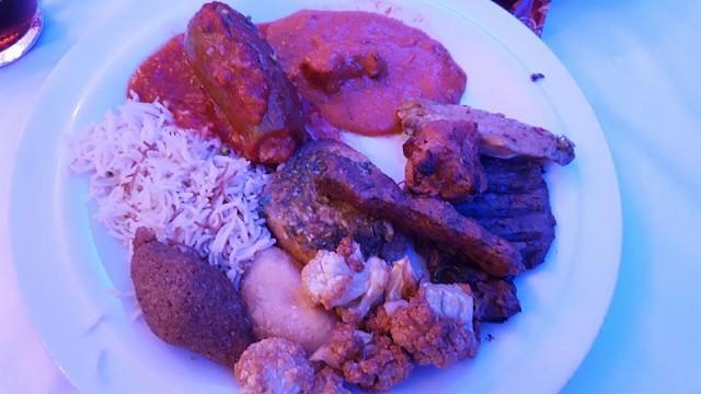 Kempinski Ajman Iftar Tent - Grilled Hammour with Coriander Sauce