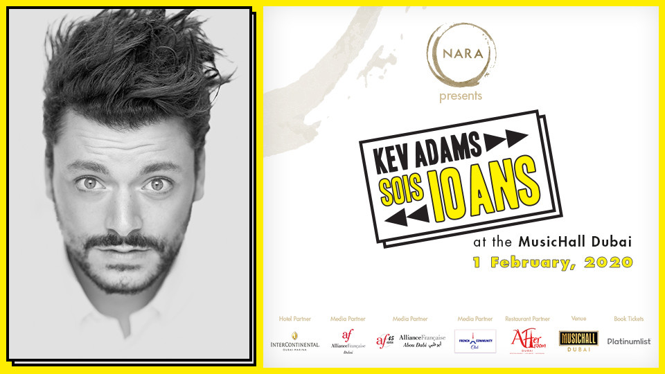 Kev Adams Live on Feb 1st at Jumeirah Zabeel Saray Dubai 2020