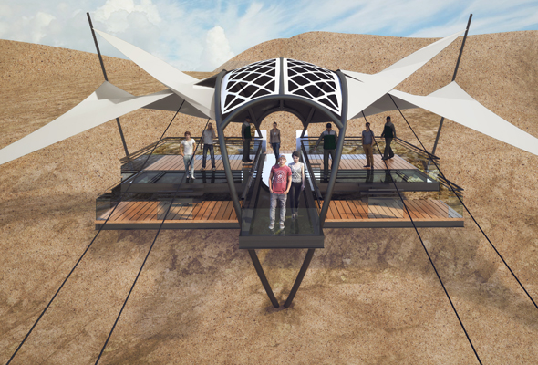 World's Longest Zip Line In Ras Al Khaimah - Launch Platform