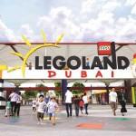 Legoland Dubai entrance sign.