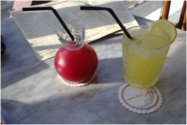 Lemonade Batrouniye and Pomegranate juice.