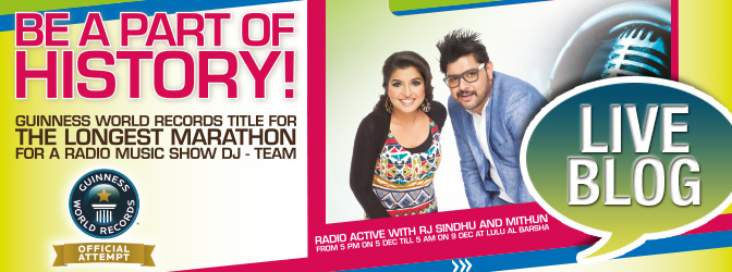 Talkathon on Hit 96.7 FM Dubai