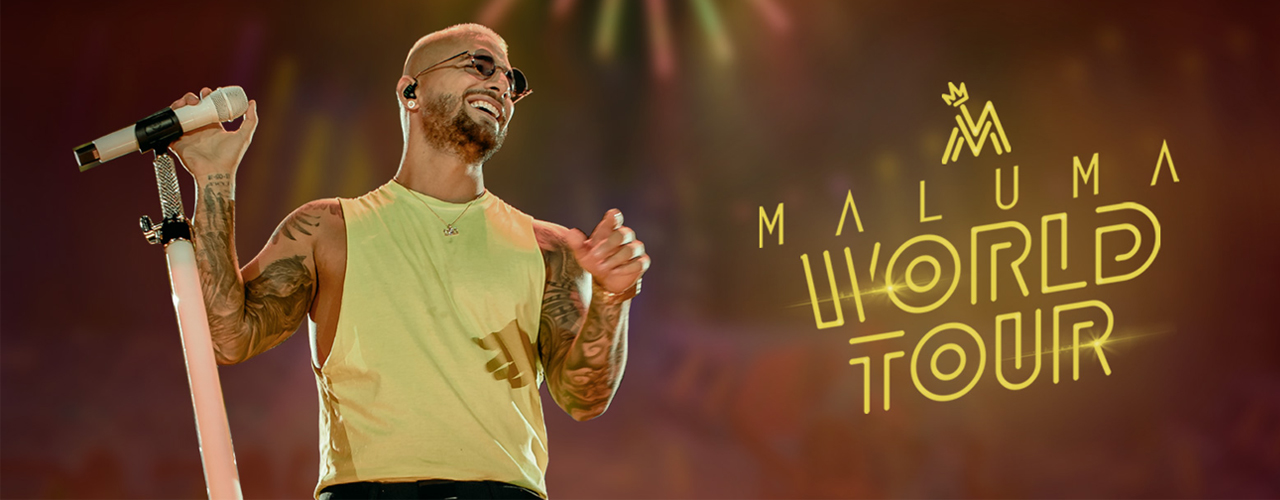 Maluma Live on Feb 14th at Coca-Cola Arena Dubai