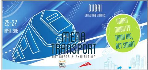Mena Transport Congress and Exhibition 2016 - Events in Dubai, UAE.