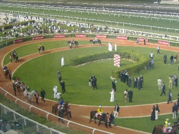Racing at Meydan Racecourse 2014 Dubai