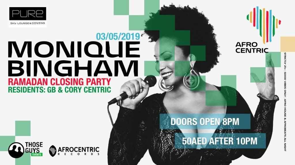 Monique Bingham Live Dubai 3rd May 2019