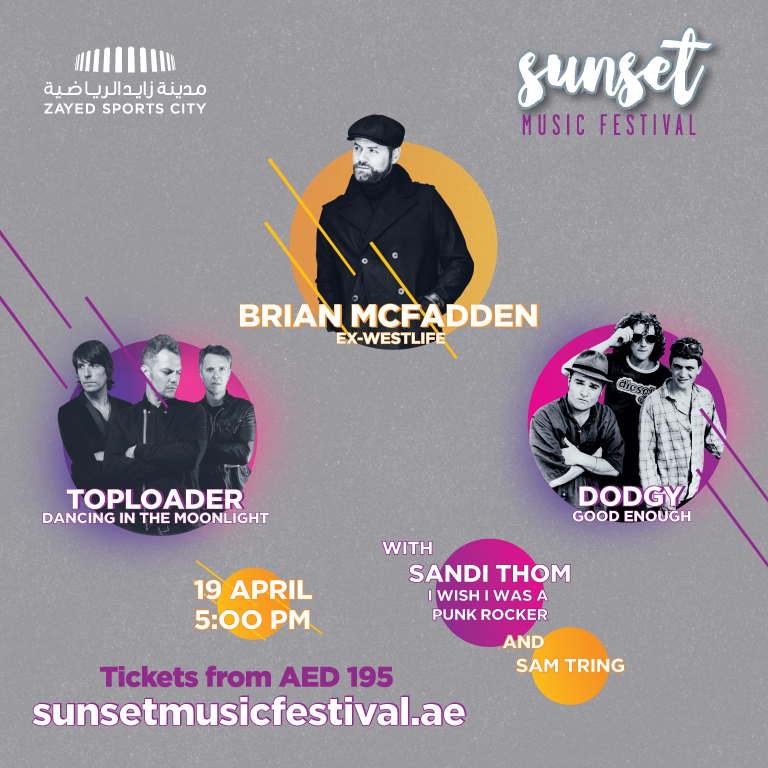 Music event Sunset Music Festival Abu Dhabi 2019 at Zayed Sports City