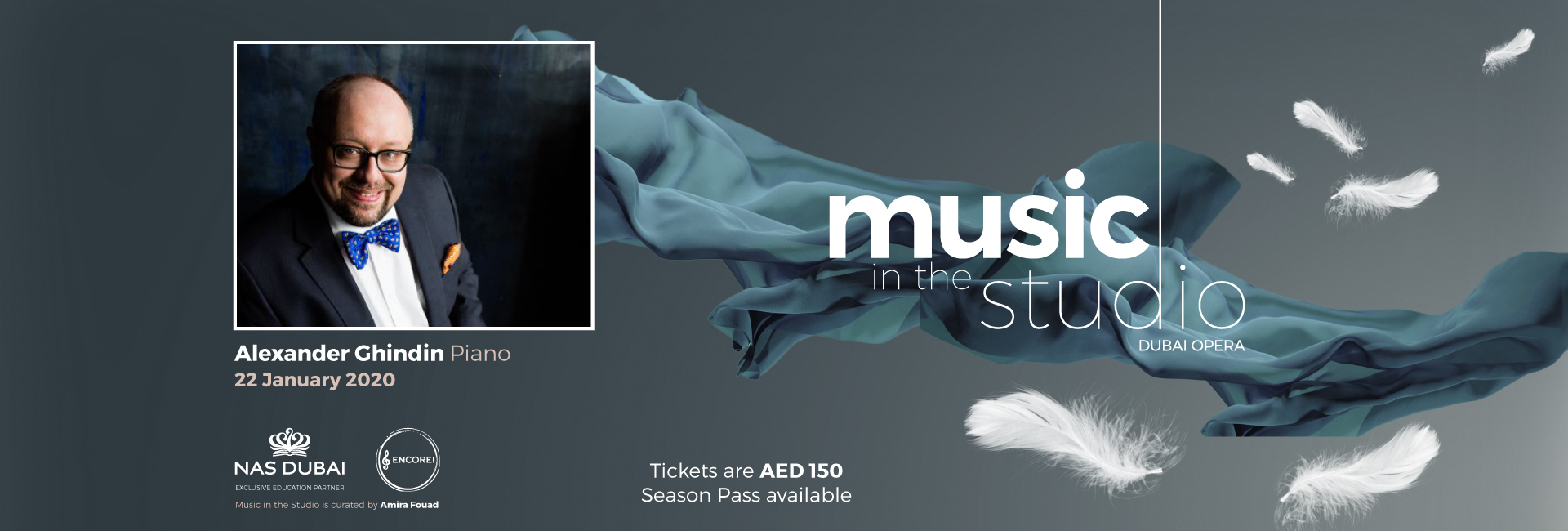 Music in the Studio: Alexander Ghindin on Jan 22nd at Dubai Opera 2020