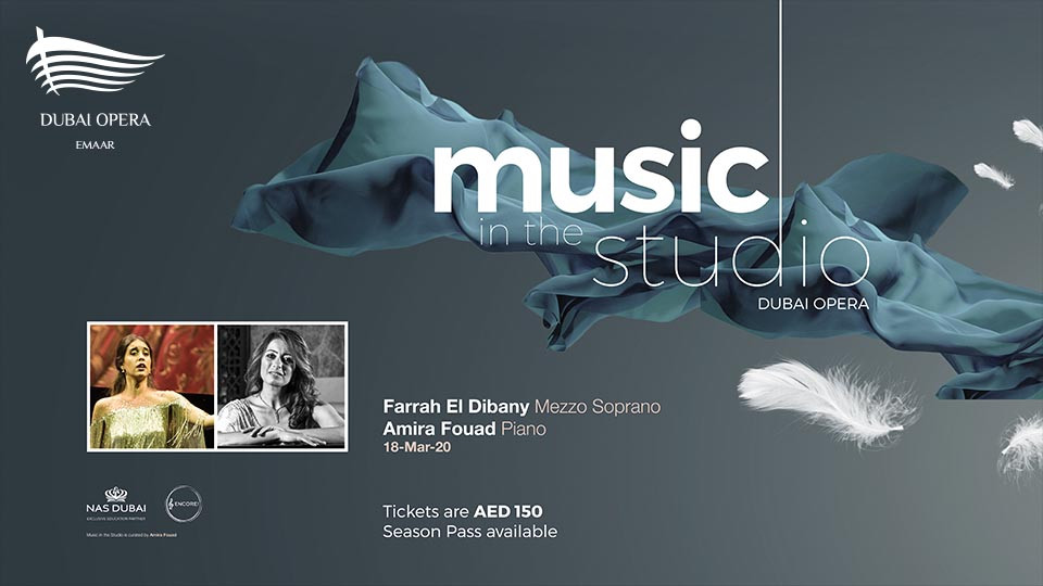 Music in the Studio: Farrah El Dibany on Mar 18th at Dubai Opera