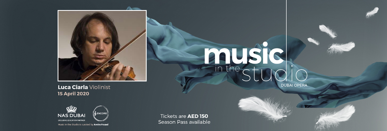 Music in the Studio: Luca Ciarla on Apr 15th at Dubai Opera