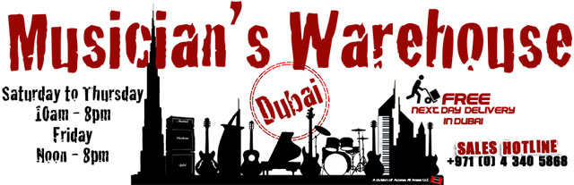 Musicians Warehouse Dubai – Music Instrument Stores in Dubai, UAE.