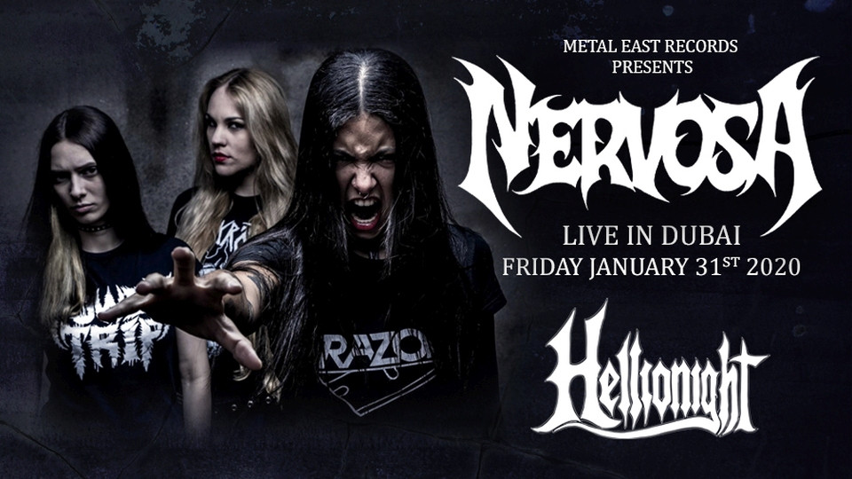 Nervosa Live on Jan 31st at El Barrio Dubai 2020