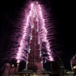 New year 2019 fireworks Dubai at Burj Khalifa