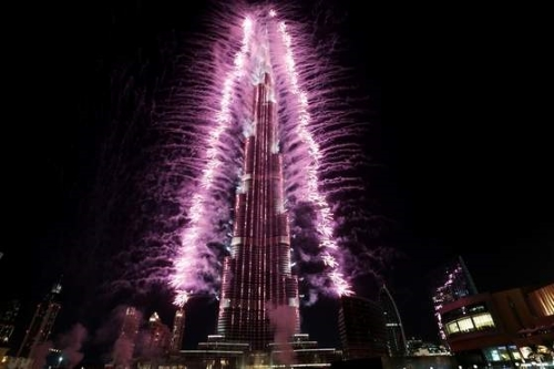 New Year fireworks 2019 at Burj Khalifa