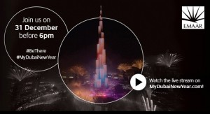 New year 2016 in Dubai fireworks at BurjKhalifa Downtown Dubai