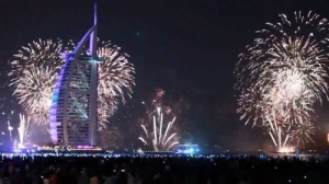 New Year Fireworks 2015 Burj Al Arab