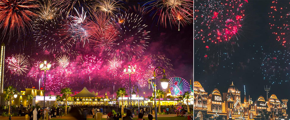 New Year Fireworks 2019 Global Village, Dubai, United Arab Emirates