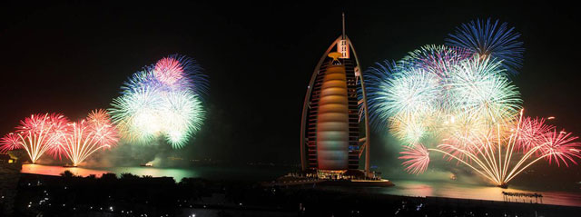 The New Year Gala Dinner at Burj Al Arab – New Year Events in Dubai, UAE.