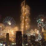 New year's eve fireworks Dubai