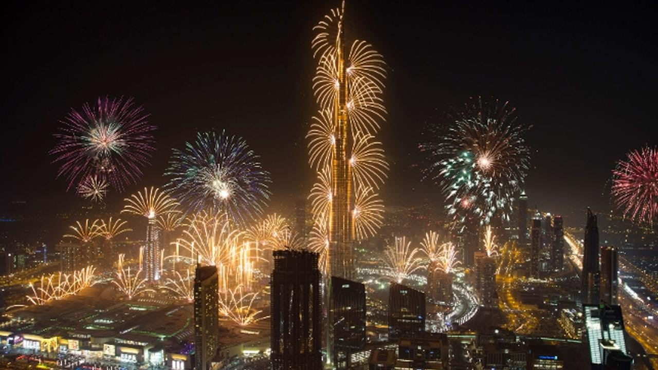New Year's Eve Fireworks in Dubai