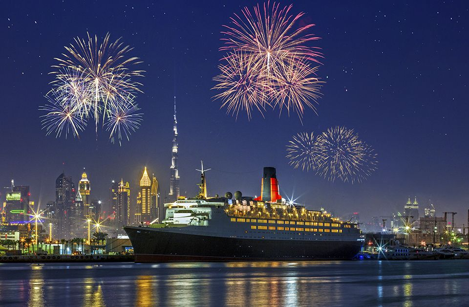 New Year's Eve at the QE2 Dubai