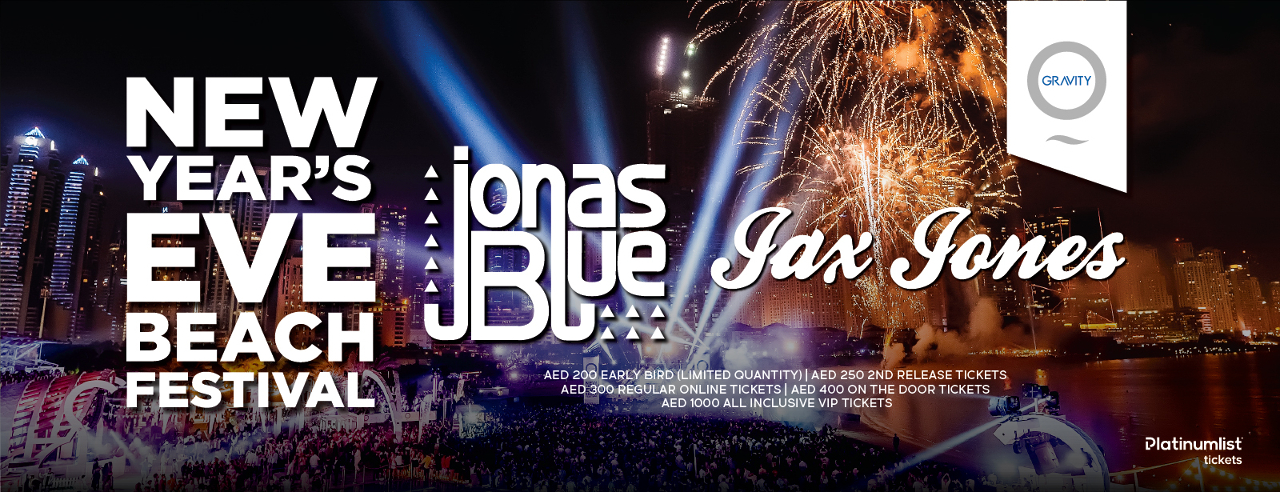 New Year's Eve with Jonas Blue and Jax Jones at Zero Gravity Dubai