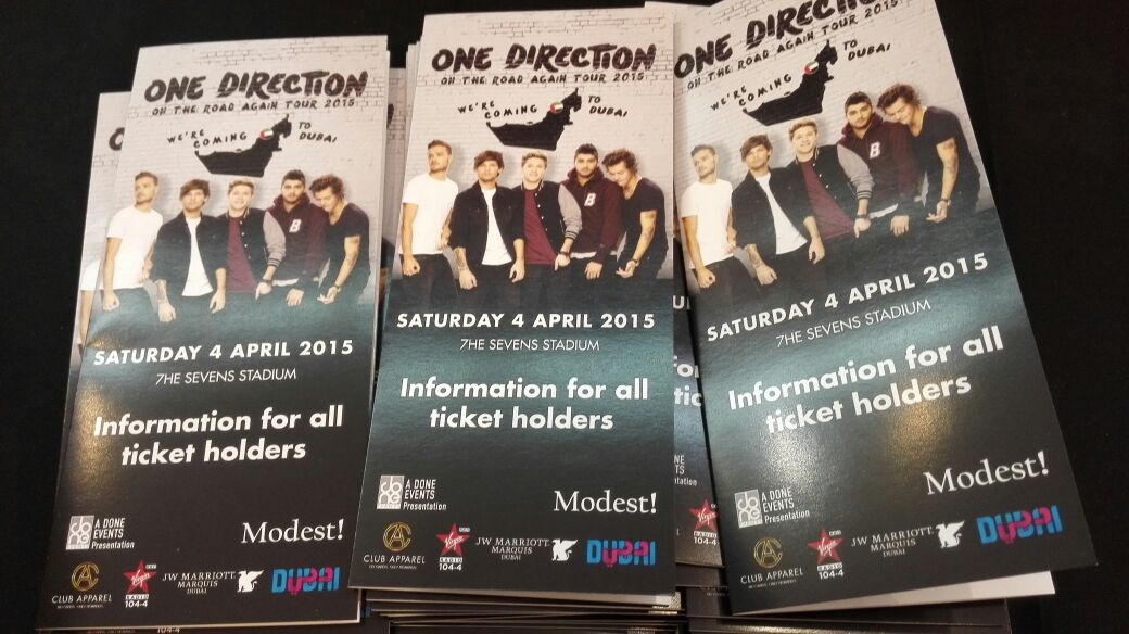 One Direction in Dubai – On The Road Again Tour 2015