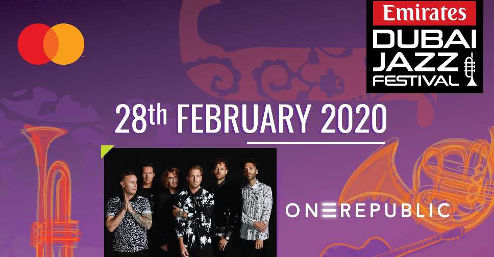 OneRepublic on Feb 28th at the Emirates Airline Dubai Jazz Festival