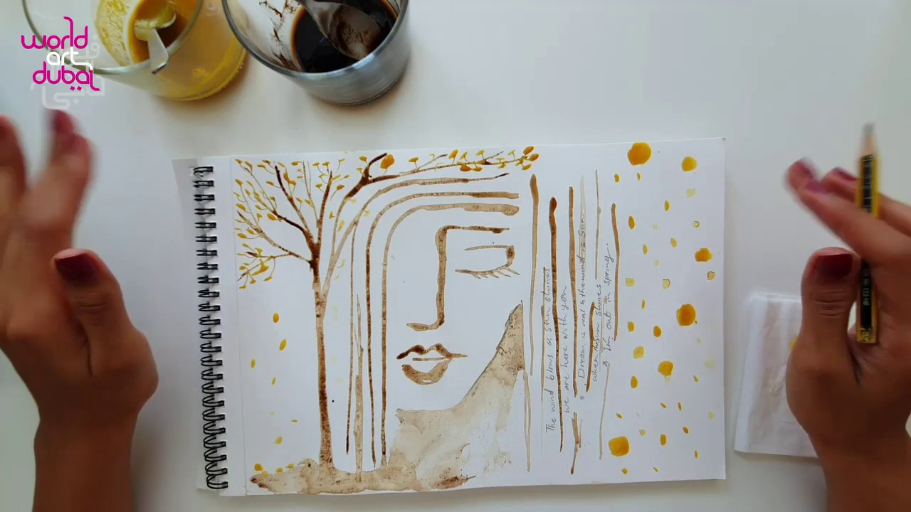 Online Workshop: Watercolour Doodle Art Dubai 2020