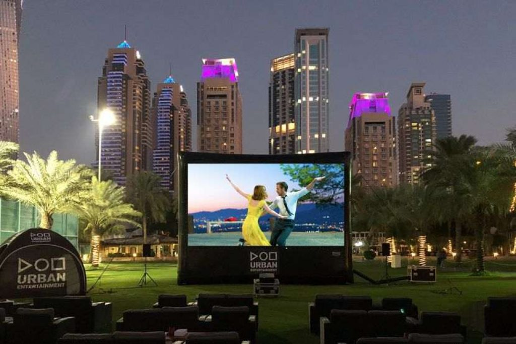 Outdoor cinema at Dubai Festival City