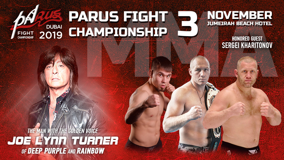 PaRUS Fight Championship on Nov 3rd at Jumeirah Beach Hotel Dubai