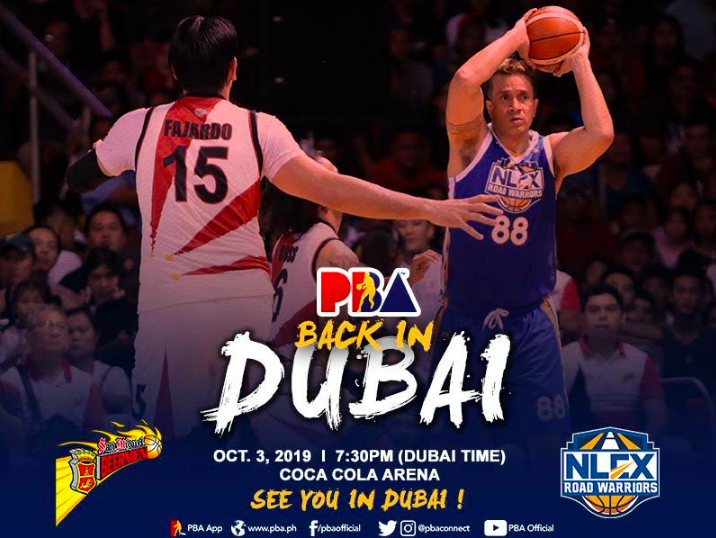 PBA Back in Dubai at Coca-Cola Arena 2019