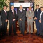 Rosewood Jeddah associates, from left to right: Shafi Ahmed, Mohamed Jouni, Craig Senior, Hans-Peter Leitzke, Najeeb Zahid, Ramy Youssef, Sherif El Mansoury and Saud Iqbal.