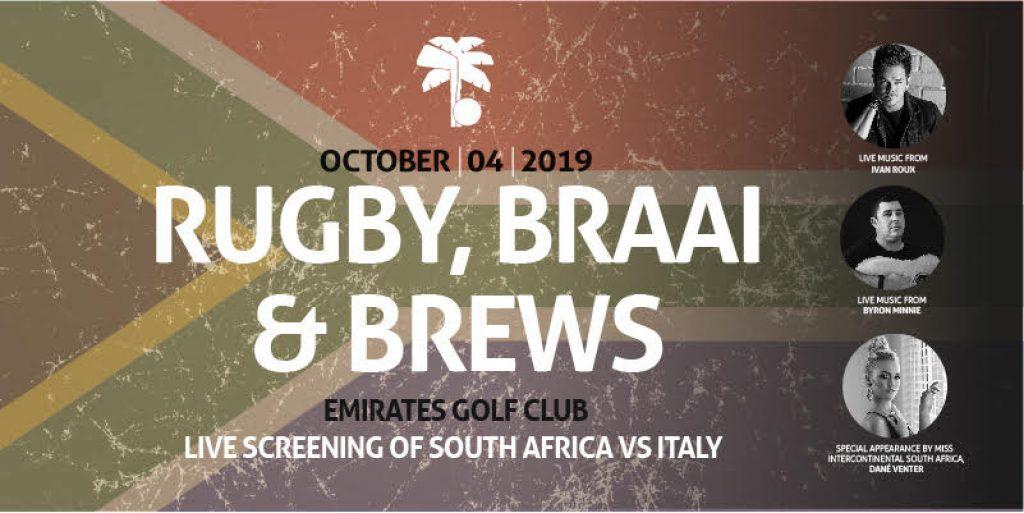 RUGBY, Braai AND BREWS Dubai 2019