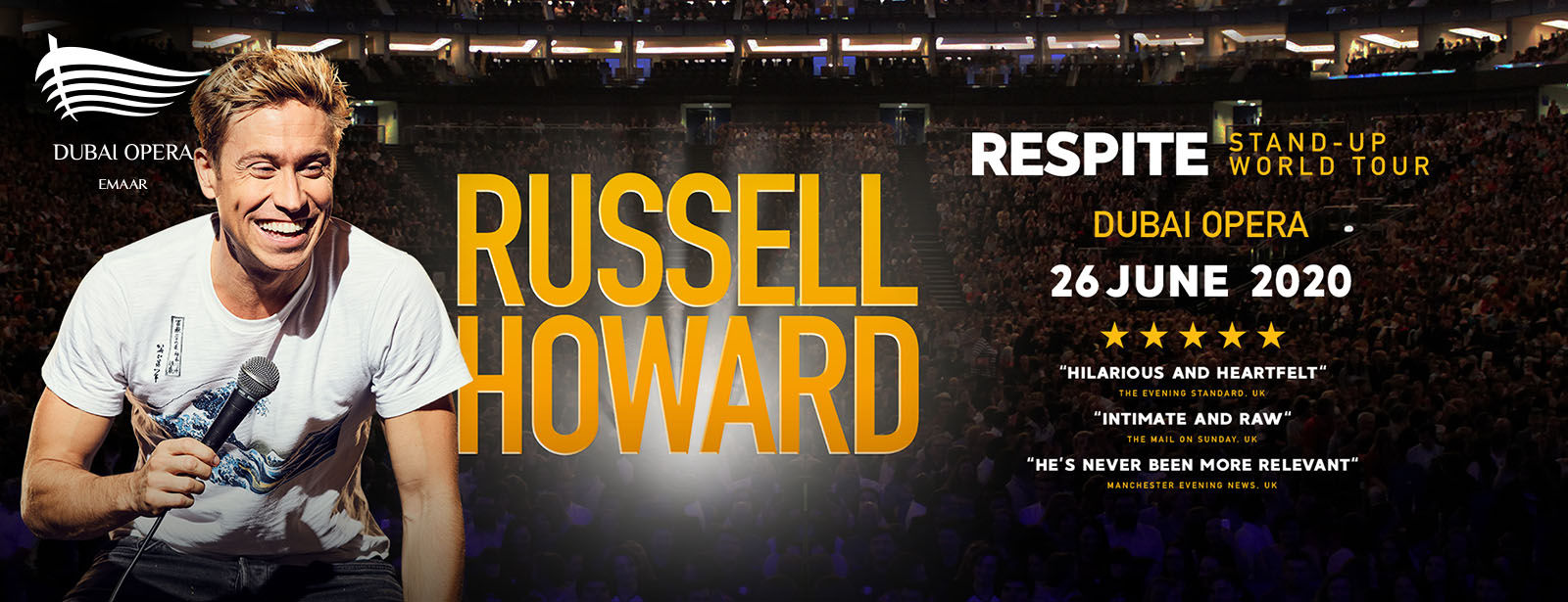 Russell Howard Live on Jun 27th at Dubai Opera 2020
