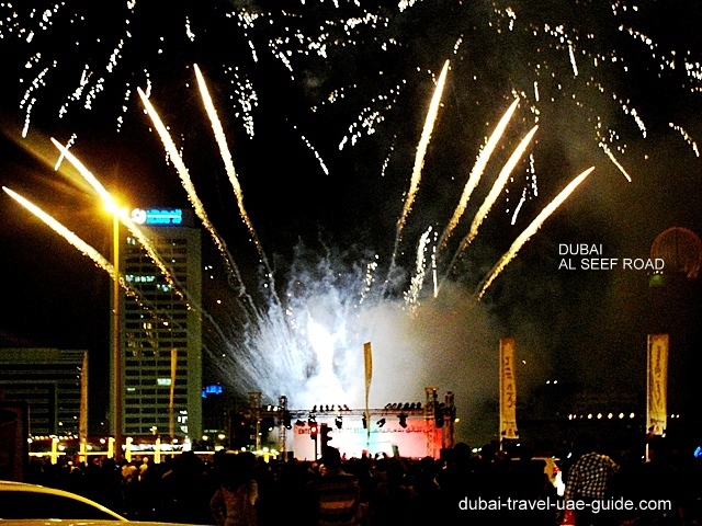 UAE National Day 2018 fireworks at the Beach, Al Seef, La Mer