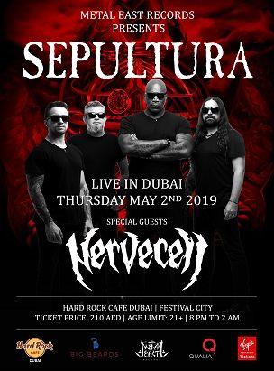 Sepultura Live in Dubai 2019 Hard Rock Cafe DFC