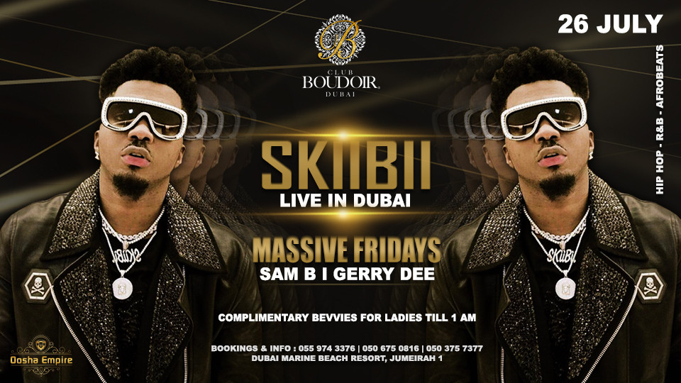 Skiibii Live at Boudoir Dubai 2019