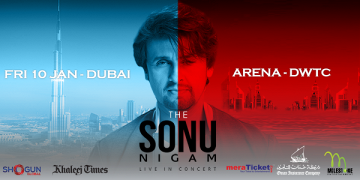 Sonu Nigam Live on Jan 10th at Dubai World Trade Centre Arena