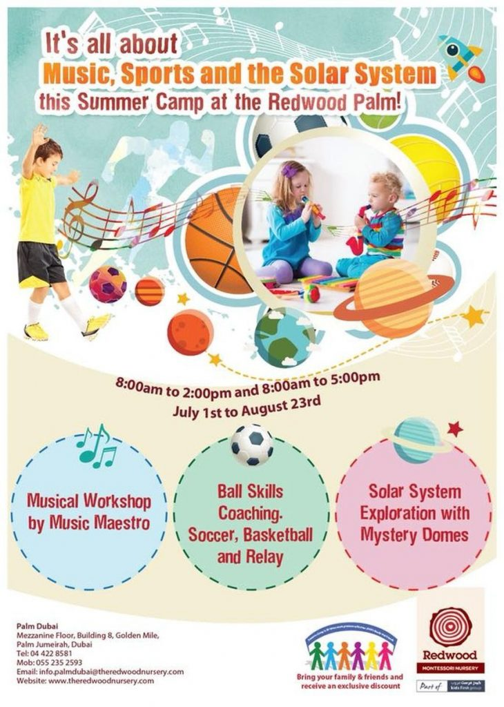 Redwood Montessori Nursery Summer Camp 2018