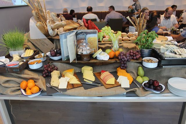 The Art of Brunch - An artfully arranged cheese and grape table