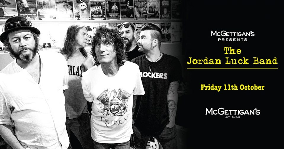 The Jordan Luck Band Dubai 2019 on Oct 11th at McGettigan's