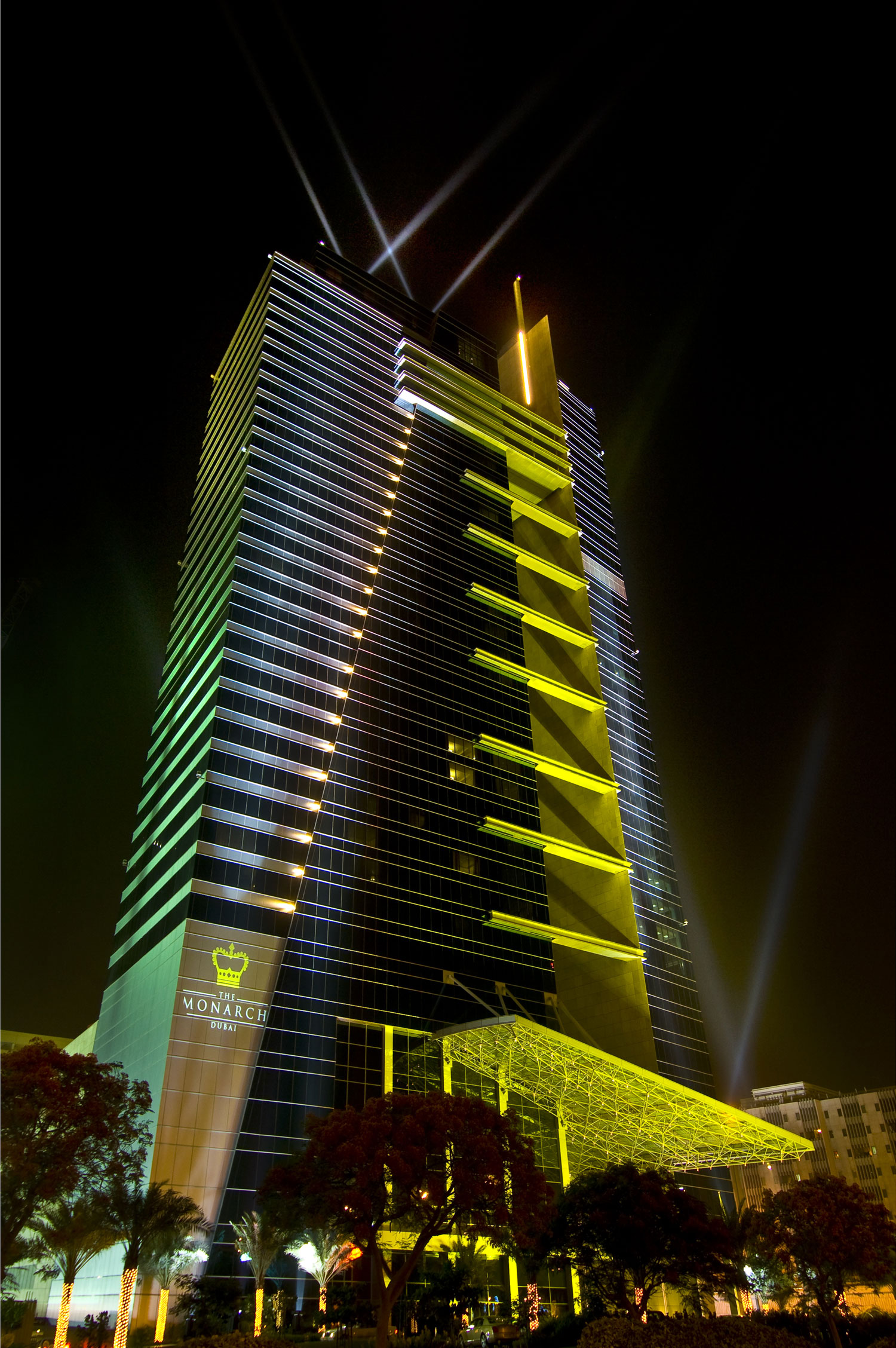 The Monarch Hotel, now known as The H Hotel Dubai