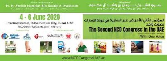 The Second Non-Communicable Diseases Congress on Jun 4th – 6th at Intercontinental Dubai Festival City